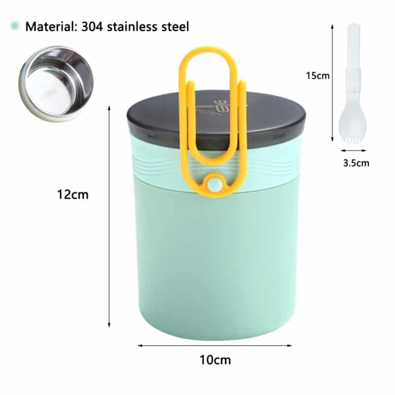 304 Stainless Steel Lunch Box Bento Box For School Kids Office Worker 2layers Microwae Heating Lunch Container Food Storage Box 10