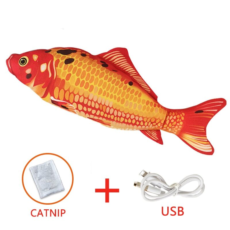 Pet Soft Electronic Fish Shape Cat Toy Electric USB Charging Simulation Fish Toys Funny Cat Chewing Playing Supplies Dropshiping 8