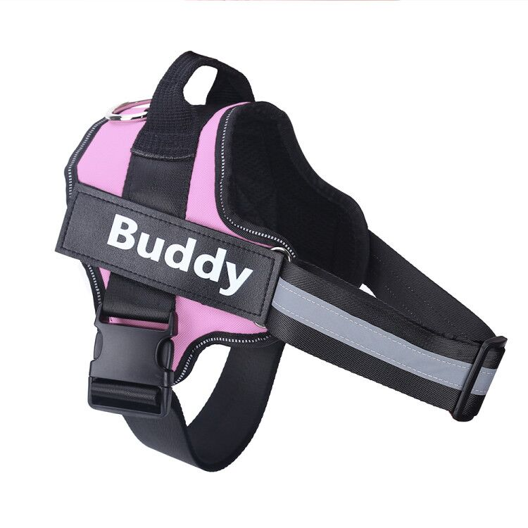 Personalized Dog Harness NO PULL Reflective Breathable Adjustable Pet Harness For Small large Dog Harness Vest With Custom patch 15