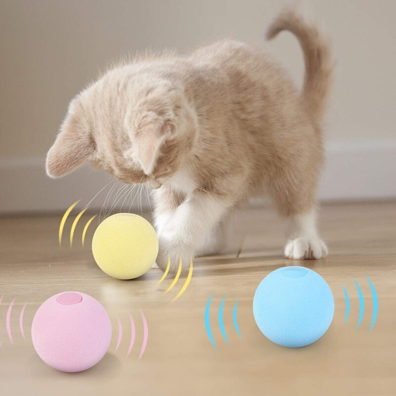 Smart Cat Toys Interactive Ball Catnip Cat Training Toy Pet Playing Ball Pet Squeaky Supplies Products Toy for Cats Kitten Kitty 1