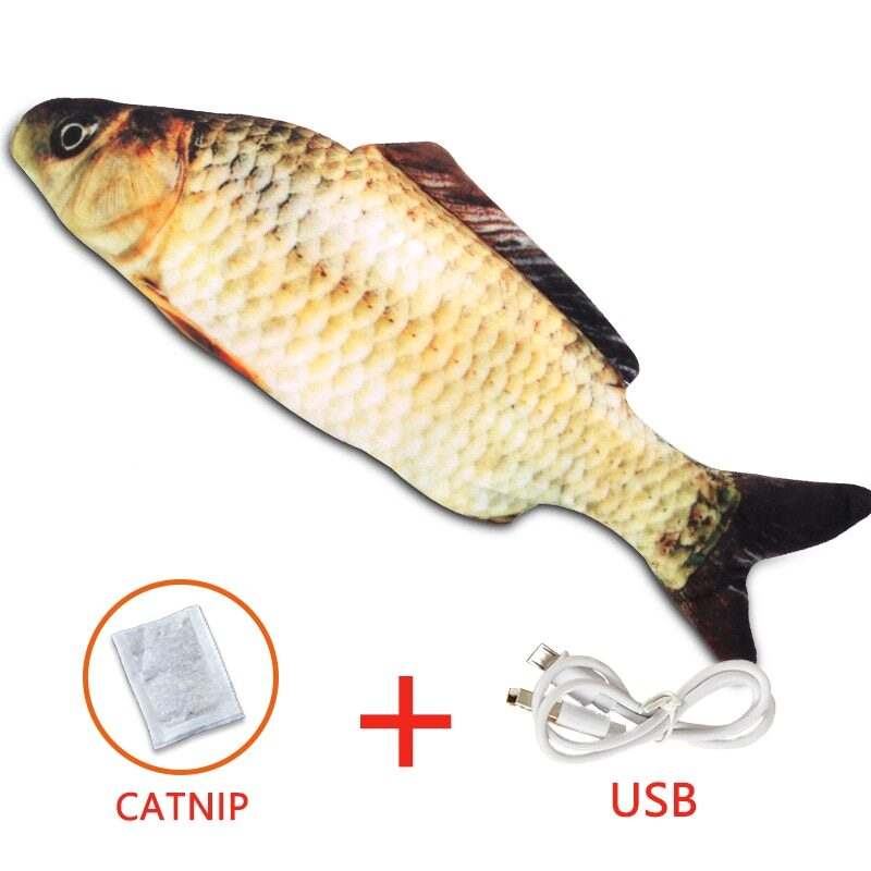 Pet Soft Electronic Fish Shape Cat Toy Electric USB Charging Simulation Fish Toys Funny Cat Chewing Playing Supplies Dropshiping 11