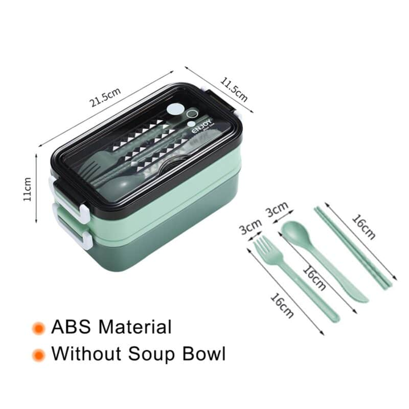 304 Stainless Steel Lunch Box Bento Box For School Kids Office Worker 2layers Microwae Heating Lunch Container Food Storage Box 34