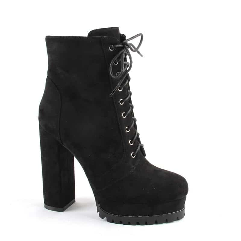 Perixir women's boots with laces and chunky heel