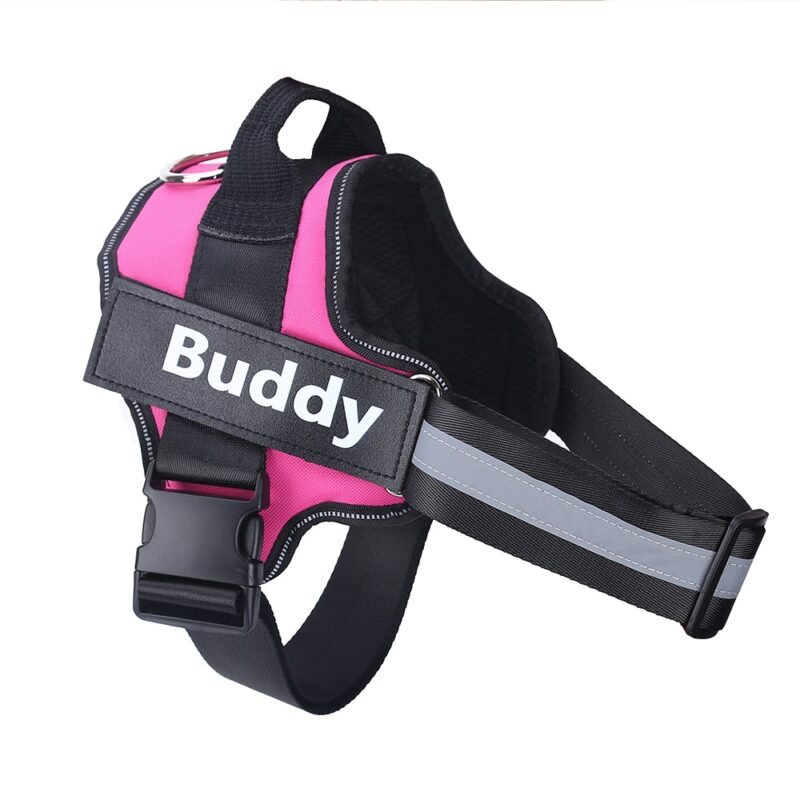 Personalized Dog Harness NO PULL Reflective Breathable Adjustable Pet Harness For Small large Dog Harness Vest With Custom patch 11