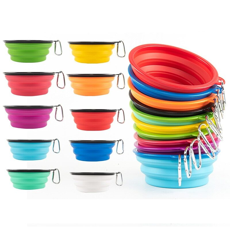 1000ml Large Collapsible Dog Pet Folding Silicone Bowl Outdoor Travel Portable Puppy Food Container Feeder Dish Bowl 1