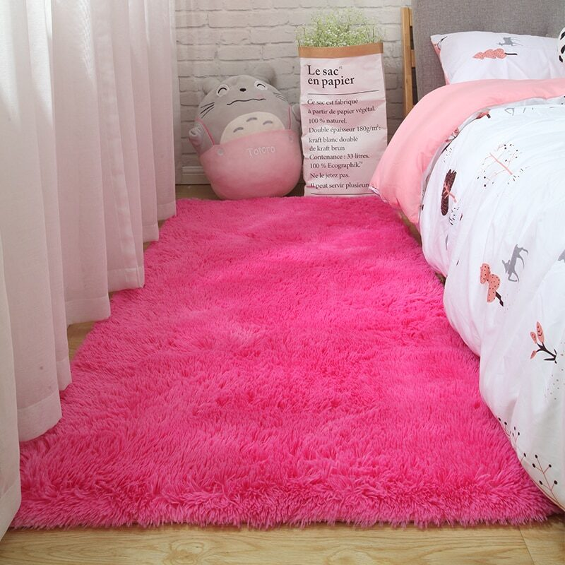 Fluffy Tie Dye Carpets For Bedroom Decor Modern Home Floor Mat Large Washable Nordica in the Living Room Soft White Shaggy Rug 7