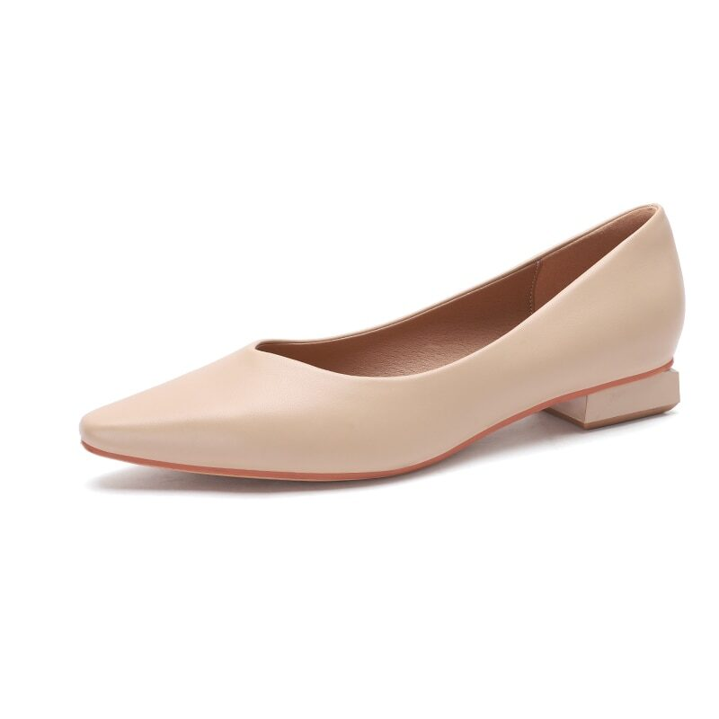 New 2021 Spring Women Shoes Moccasins Low Square Heels Brand Design Gold Buckle Female Slip On Casual Elegant Comfortable Pumps 18