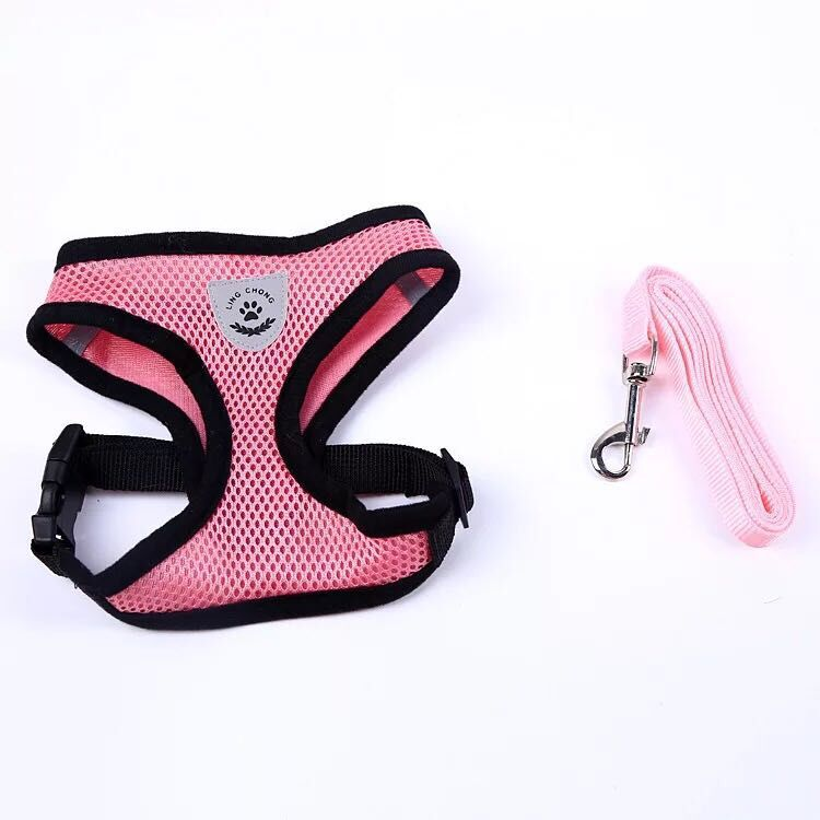 Cat Dog Adjustable Harness Vest Walking Lead Leash For Puppy Dogs Collar Polyester Harness For Small Medium Dog Cat Accessories 11