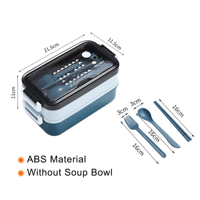 304 Stainless Steel Lunch Box Bento Box For School Kids Office Worker 2layers Microwae Heating Lunch Container Food Storage Box 32
