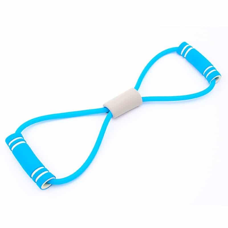 Hot Yoga Gum Fitness Resistance 8 Word Chest Expander Rope Workout Muscle Trainning Rubber Elastic Bands for Sports Exercise 15