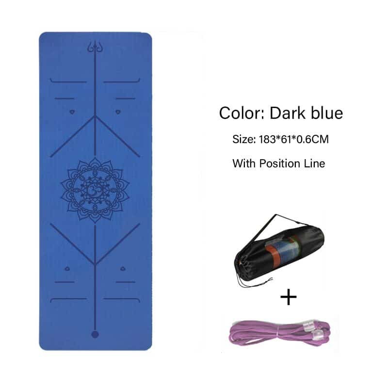 TPE Yoga Double Layer Non-Slip Mat Yoga Exercise Pad with Position Line For Fitness Gymnastics and Pilates 13