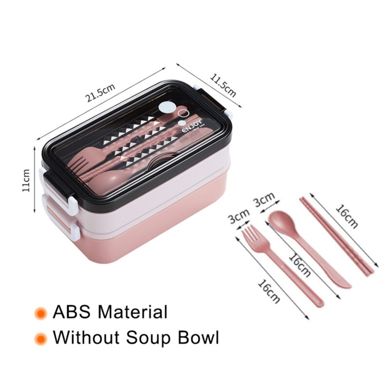 304 Stainless Steel Lunch Box Bento Box For School Kids Office Worker 2layers Microwae Heating Lunch Container Food Storage Box 33