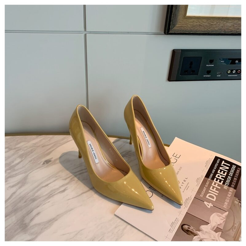 Fashion Women Shoes Thin Heel 8cm Pointed Toe Pumps Women Dress Party Shoes Female Office Ladies Shoes For Wedding zapatos mujer 10