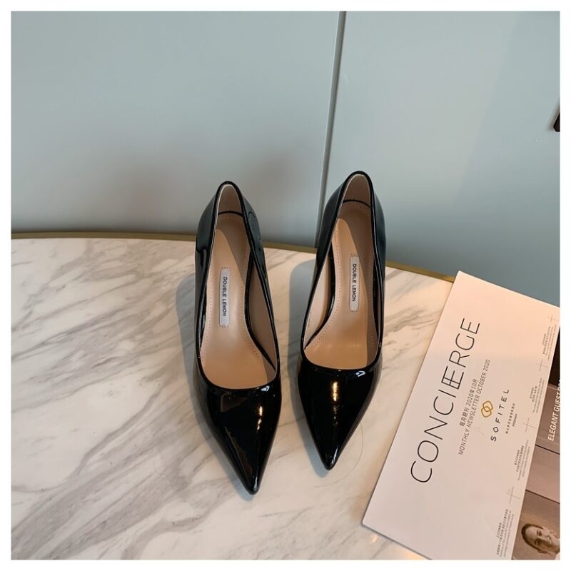 Fashion Women Shoes Thin Heel 8cm Pointed Toe Pumps Women Dress Party Shoes Female Office Ladies Shoes For Wedding zapatos mujer 11