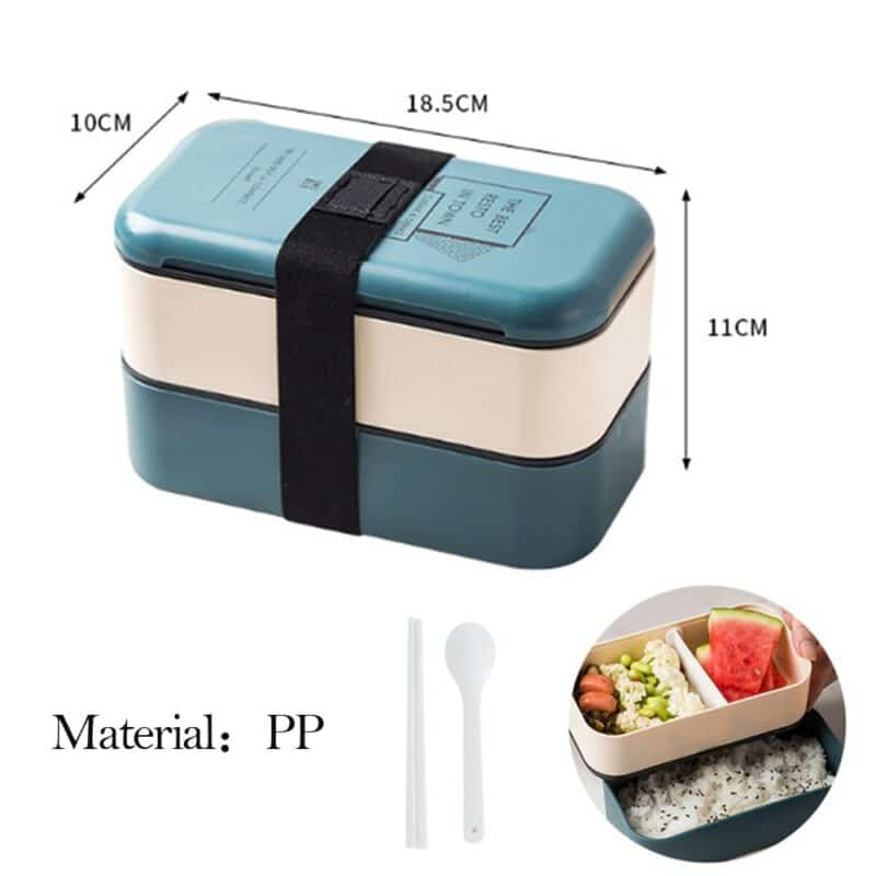 304 Stainless Steel Lunch Box Bento Box For School Kids Office Worker 2layers Microwae Heating Lunch Container Food Storage Box 18