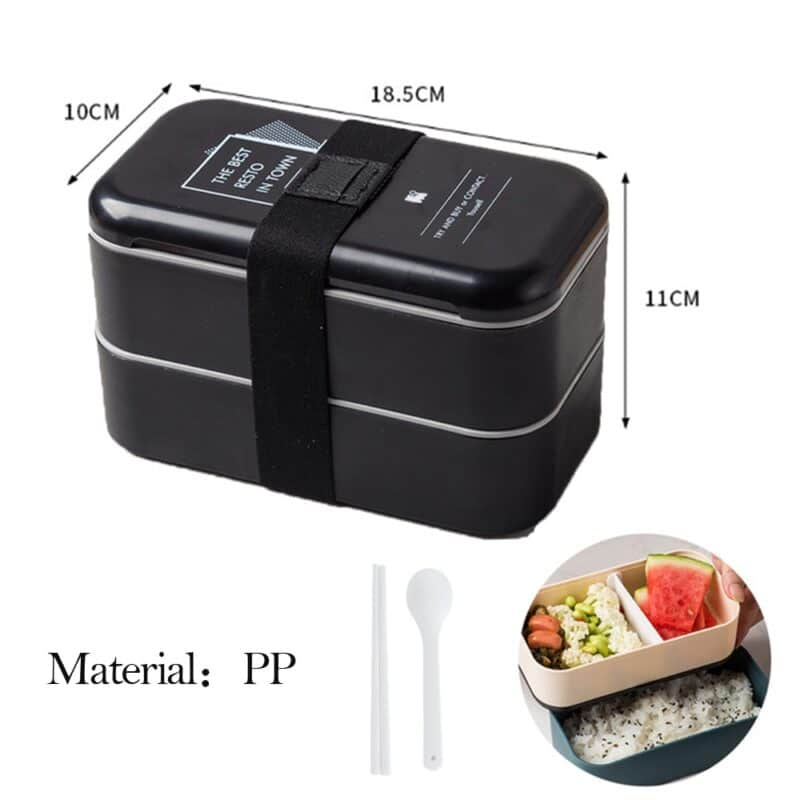 304 Stainless Steel Lunch Box Bento Box For School Kids Office Worker 2layers Microwae Heating Lunch Container Food Storage Box 16