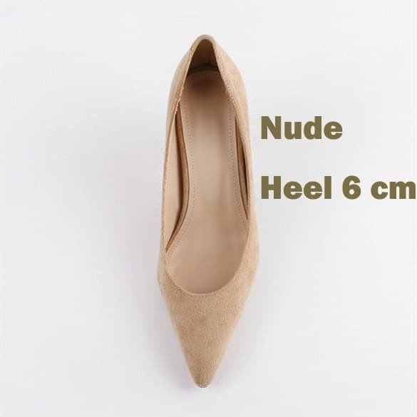 EOEODOIT 6 CM 8 CM Heels Shoes Women Formal Fashion High Stiletto Heels Office Party Dress Shoes Sexy Pointed Toe Slip On 8