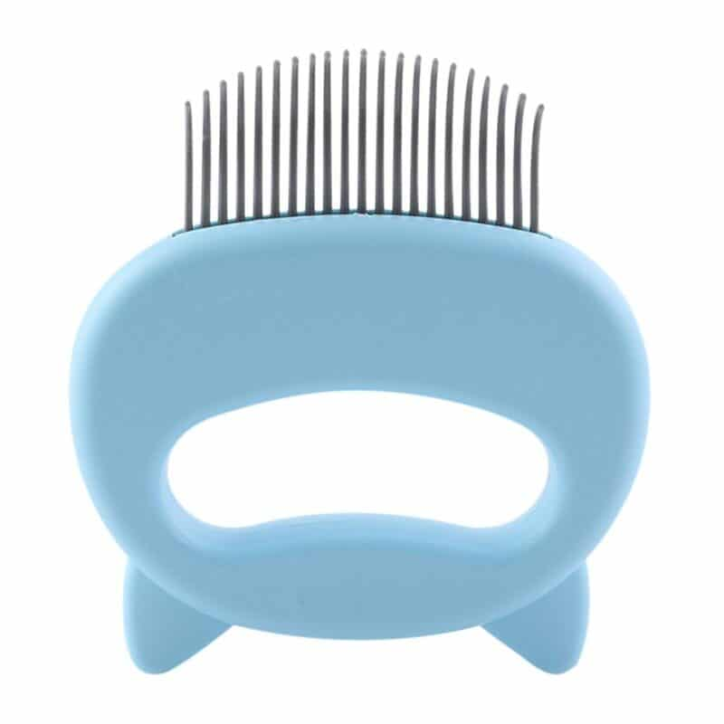 Pet Massage Brush Shell Shaped Handle Pet Grooming Massage Tool To Remove Loose Hairs Only For Cats New 7