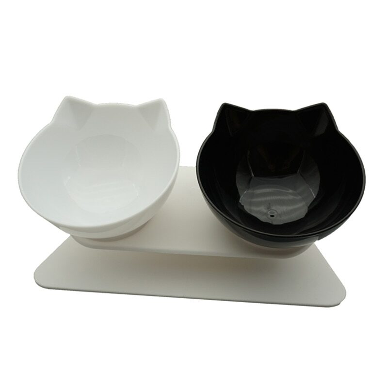 Non-Slip Double Cat Bowl Dog Bowl With Stand Pet Feeding Cat Water Bowl For Cats Food Pet Bowls For Dogs Feeder Product Supplies 1