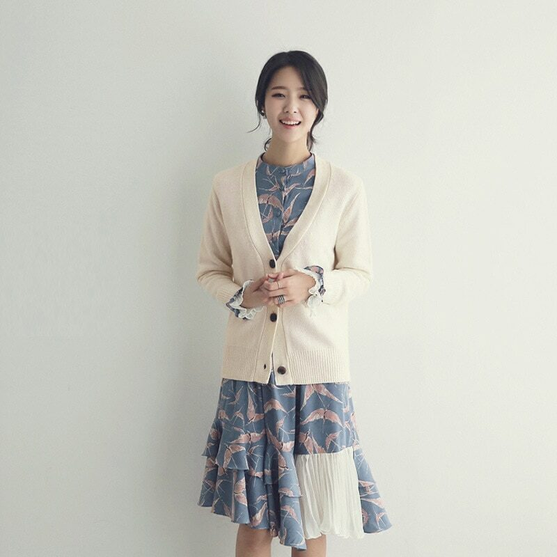 Spring 2021 new autumn and winter women's sweater jacket cardigan women loose outside to wear a conventional versatile  SR662 7