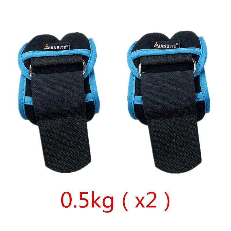 1kg/pair Adjustable Wrist Ankle Weights Iron Sand Bag Weights Straps with Neoprene Padding for for Exercise Fitness Running 8