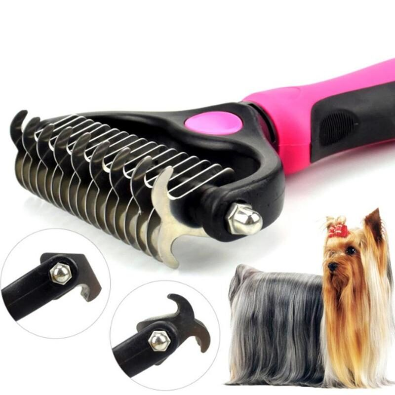 Pets Hair Removal Comb Knot Cutter Brush Double Sided Cat Dog Grooming Shedding Tool Long Curly Hair Cleaner Comb Pet Grooming 1