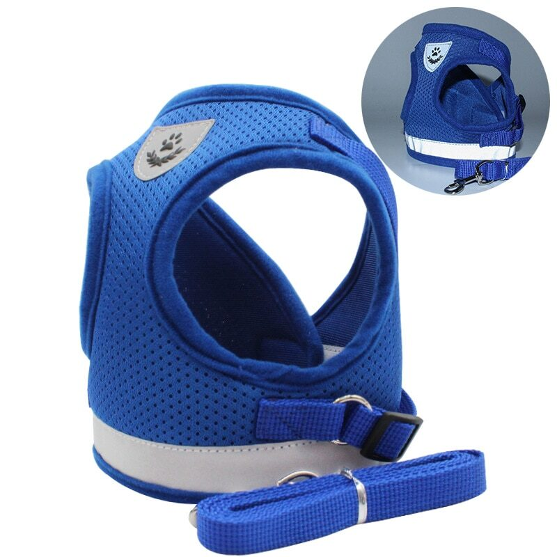 Breathable Cat Harness And Leash Escape Proof Pet Clothes Kitten Puppy Dogs Vest Adjustable Easy Control Reflective Cat Harness 7