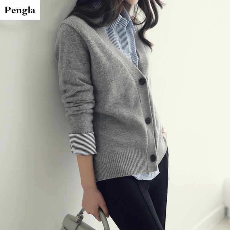 Spring 2021 new autumn and winter women's sweater jacket cardigan women loose outside to wear a conventional versatile  SR662 1