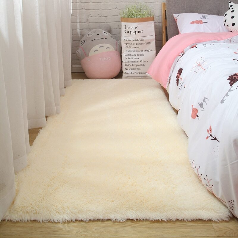 Fluffy Tie Dye Carpets For Bedroom Decor Modern Home Floor Mat Large Washable Nordica in the Living Room Soft White Shaggy Rug 9