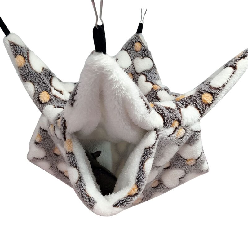 Warm Hamster Hammock Rat Hanging Beds House Small Animal Cage Squirrel Guinea Pig Double-layer Plush Cotton Nests Pets Supplies 19