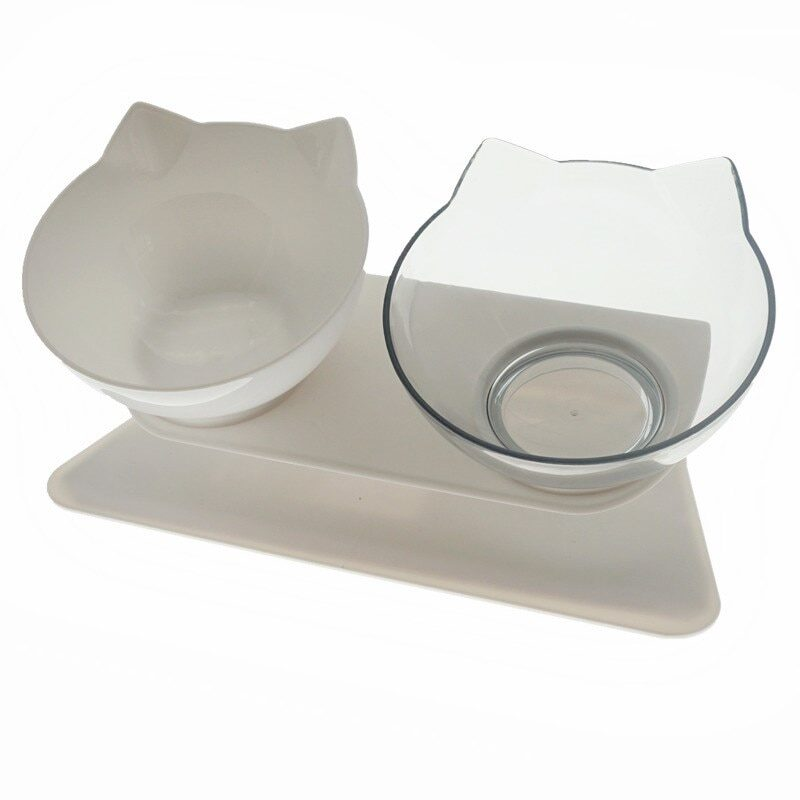 Non-Slip Double Cat Bowl Dog Bowl With Stand Pet Feeding Cat Water Bowl For Cats Food Pet Bowls For Dogs Feeder Product Supplies 18