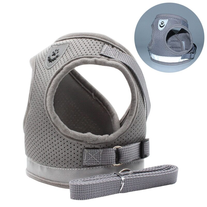 Breathable Cat Harness And Leash Escape Proof Pet Clothes Kitten Puppy Dogs Vest Adjustable Easy Control Reflective Cat Harness 8