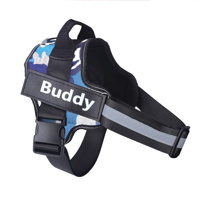 Personalized Dog Harness NO PULL Reflective Breathable Adjustable Pet Harness For Small large Dog Harness Vest With Custom patch 10